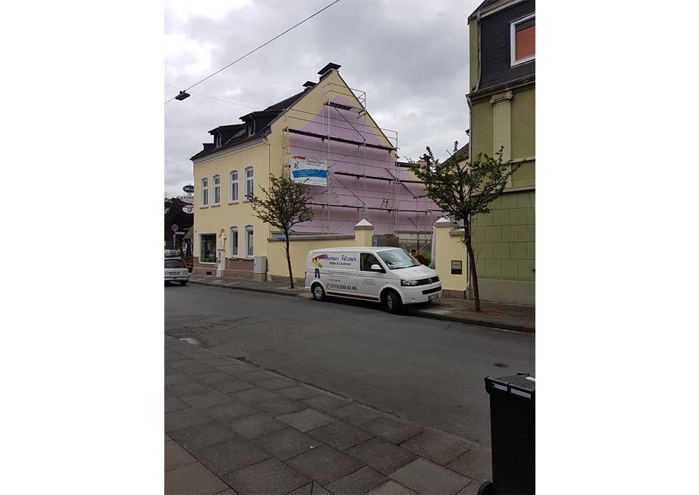 Gestaltung einer Fassade in Troisdorf